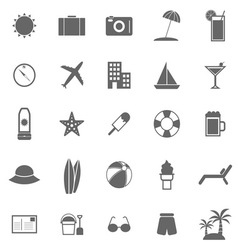 Summer icons on white background vector image
