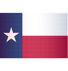 Texas state doted flag vector