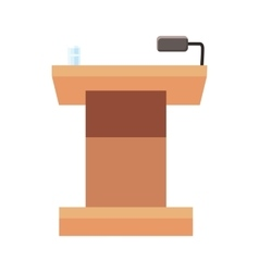 Tribune for speech icon cartoon style vector image