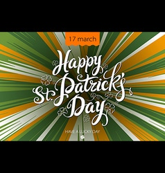 Typographic Saint Patricks Day Retro Background vector image