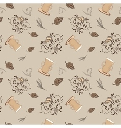 Vintage Coffee Pattern vector image