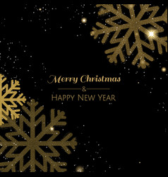 xmas postcard with snowflake vector image