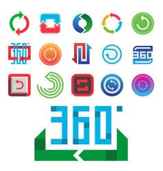 angle 360 degrees web icons shape mark vector image
