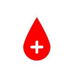 drop of blood red with white vector image