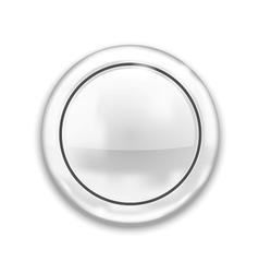 Empty White Button vector image vector image
