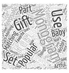 Monograms Word Cloud Concept vector image vector image