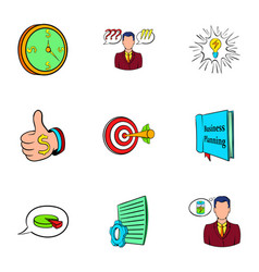office worker icons set cartoon style vector image vector image
