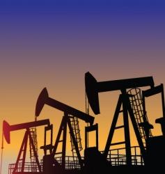 oil wells vector image vector image