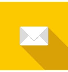 White envelope icon flat style vector image