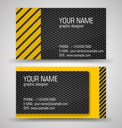 business cards set template vector image vector image