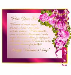 copy space with roses vector image