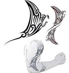 Maori Manta tattoo design vector image vector image