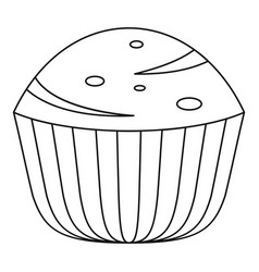 muffin icon outline style vector image