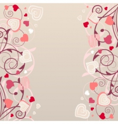 pattern with red contour shapes vector image vector image