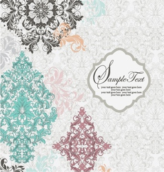 ABSTRACT FLORAL INVITATION CARD vector image