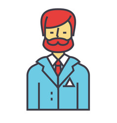 businessman business lawyer law legal adviser vector image vector image