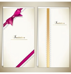 Collection of gift cards and invitations with vector image vector image