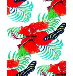 Hibiscus pattern2 vector image