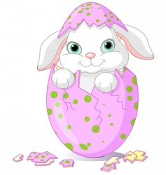 Easter baby bunny vector image vector image