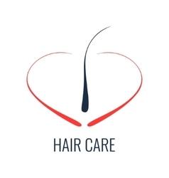 Hair care follicle icon vector image