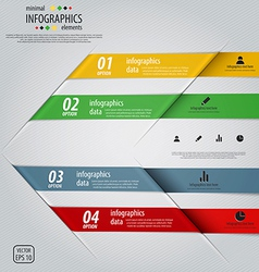 infographics design 3 vector image