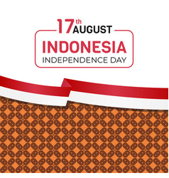 17 august indonesia independence day vector image
