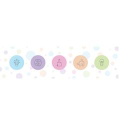 5 creativity icons vector