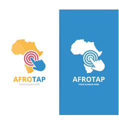 africa and click logo combination safari vector image