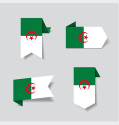Algerian flag stickers and labels vector