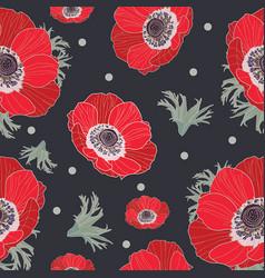 anemone flowers vector image