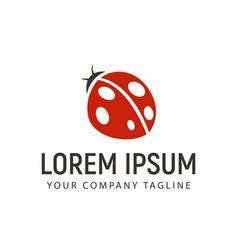 beetle logo design concept template vector image
