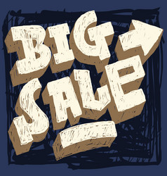 big sale hand drawn scribble brush strokes style vector image