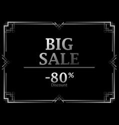 black friday big sale discount 80 percent art vector image