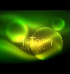blurred neon glowing circle hi-tech modern bubble vector image