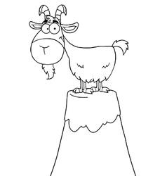 Cartoon goat vector