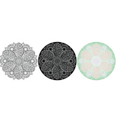 circle ornament with easter eggs ethnic mandala vector image