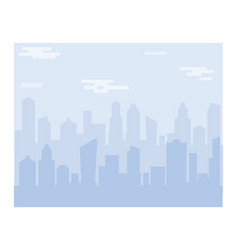 City scape silhouette background downtown vector