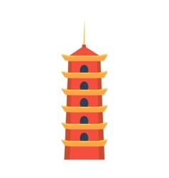 Classic Chinese Tower In Hong Kong Simplified Icon vector image