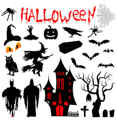 Clipart for for halloween vector