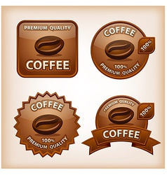 Coffee glossy signs vector