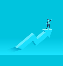 concept of business growth with an upward arrow vector image
