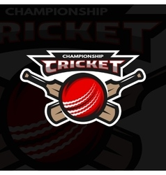 Cricket sports logo emblem vector