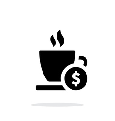 Cup price simple icon on white background vector image