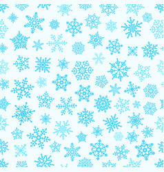 different snowflake elements seamless pattern vector image