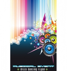 disco dancing flyer vector image