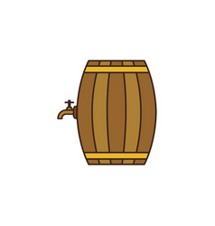 Doodle colorful barrel icon isolated on white vector