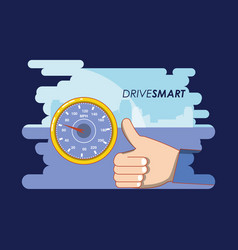 Drive smart campaign label vector