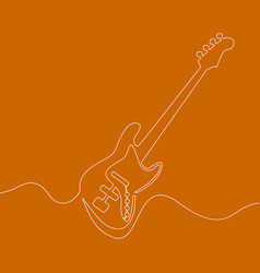 electric guitar continuous one line drawn vector image