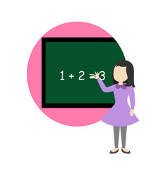 explaining math school cartoon graphic design vector image