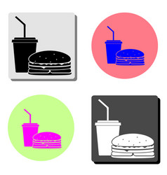 fast food flat icon vector image